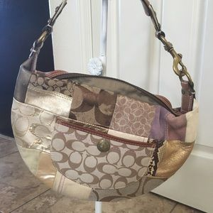 Coach Patchwork Logo print purse—small